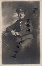 WW1 Pte Sidney De Carle ? Suffolk Regiment Grantham photographer