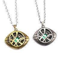 Men Women Dr Doctor Strange Eye of Agamotto Pendant Chain Necklace UK