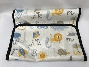 ABC Animals With Oilcloth Wipe Clean Baby Travel Changing Mat Quality Handmade