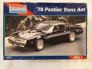 Monogram '78 Pontiac Trans Am 1:24 2716