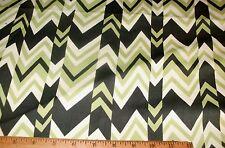 1/2 Yd Decorator Fabric Nigella Chevron Lime Army Green Cream Upholstery