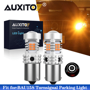 AUXITO BAU15S 7507 LED Turn Signal Parking Light Amber Canbus No Hyper Flash EOH