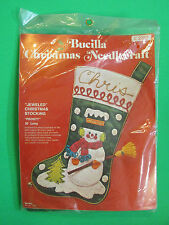 Bucilla Christmas Needlecraft Jeweled Christmas Stocking 2312 Mr Frosty