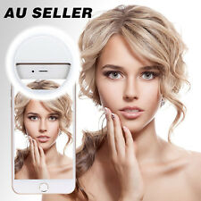 Phone Selfie Ring Fill Light Camera LED Photography AU 3 Mode iPhone Samsung