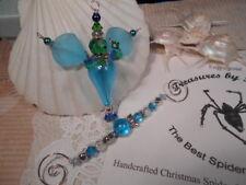 TreasuresbyTiziana ® OOAK Christmas Beaded Sea Angel Wing Fairy Doll Ornament