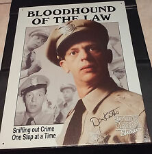 """DON KNOTTS as BARNEY FIFE  - 12-1/2"""" x 16"""" Tin Poster - SIGNED In Person"""