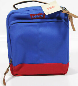 Levi's Top Handle Lunch TOTE- NEW- blue & red levis jeans lunchbox-insulated bag