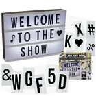 30CM LARGE LIGHT UP LETTER BOX CINEMATIC LED SIGN WEDDING PARTY CINEMA PLAQUE