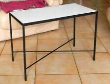 Table basse acier forgé et céramique