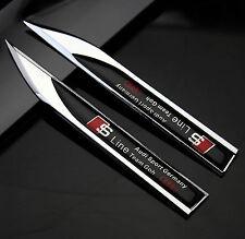 2pcs Auto Metall Schriftzug Aufkleber Emblem für Dolch RS S-line Racing schwarz