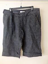 M/&S  Women Cobalt  100/% Linen Casual Shorts BNWT Size 22 Free Sameday Postage