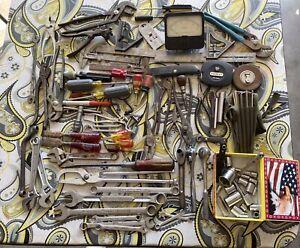 Large Vintage Tool Lot Craftsman Thorsen Williams K-D Proto Kraeuter & More