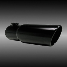 "3"" inlet 5"" outlet 18"" long Death Metal Rolled Angle Diesel Exhaust Tip"