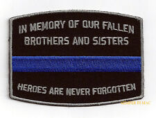 IN MEMORY FALLEN BROTHERS SISTERS MEMORIAL PATCH US ARMY MARINES NAVY AIR FORCE