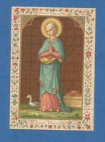 IMAGE PIEUSE HOLY CARD  SAINTE PHARAILDE GAND   SAINT AUGUSTIN BRUGES OIE GOOSE