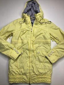 Recco Nike Snowboarding Jacket small yellow shell long ski snow coat parka