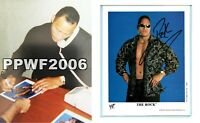 WWE THE ROCK P-536 HAND SIGNED AUTOGRAPHED 8X10 PROMO PHOTO WITH PROOF AND COA