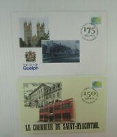 2002 Canada FDC's #1927 Saint-Hyacinthe Quebec  #1927 City of Guelph Ontario