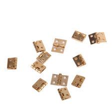 12pcs Miniature Golden Cabinet Closet Hinges for 1/12 Dollhouse Furniture