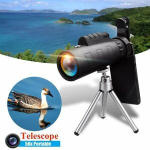 50X Zoom Monocular Telescope Telephoto Phone Camera Lens Kit For iPhone XS Pro X