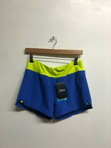 Asics Women's 2-In-1 Shorts Sports Fitness Training Shorts - Blue - New