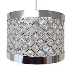Moda resistente brillante Lámpara colgante de techo pantalla ajuste 24 X 17cm plata