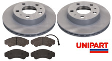 For Citroen - Relay 1994-2013 Front 300mm Vented Brake Discs & Pads Set Unipart