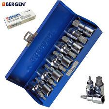 Bergen Tools 10pc 1/2'' DR. Star Bit Socket Set, Torx, Stars | Pro Quality 1128