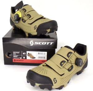 Scott MTB Team Boa Mountain Bike Shoes Beige/Black Men's Size 8 US / 41 EU