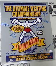Royce Gracie Ken Shamrock Pat Smith +4 Signed UFC 1 16x20 Photo PSA/DNA Poster