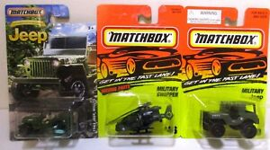 Matchbox Diecast Toy 1943 Jeep Willys Helicopter Chopper Army Military Lot #5