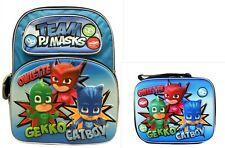 PJ Masks Boys School Deluxe Backpack Lunch box Book Bag SET Kids Toy Gift Pop Up