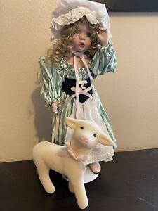 RARE Ashton-Drake Galleries Vintage Porcelain Doll Little Bo Peep w/Sheep