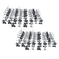 2x 60pc/set Soldier Model Medieval Knights Warriors Horses Figures Toy Decor