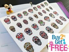 PP351 -- Small Sugar Skulls Life Planner Stickers for Erin Condren (32pcs)