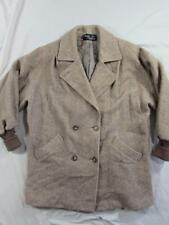 Vtg Womens 100% Pure Wool Noble Fashions DB USA Made Wool Coat Overcoat