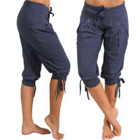Women Casual Loose Shorts Bermuda Capri Trousers Cropped Pants  Size S-5XL