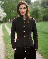 Ralph Lauren Denim Military Officer's Black/red trim jacket blazer Brand NEW