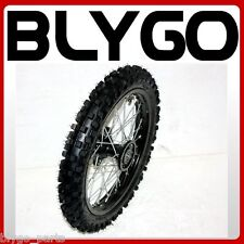 "BLACK 15mm 60/100- 14"" Inch Front Wheel Rim Knobby Tyre PIT PRO Dirt Bike"