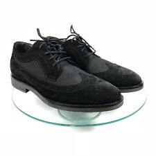 A. Testoni Oxford Shoes 42 / US 8 Mens Diffusion Suede Leather and Nylon Black