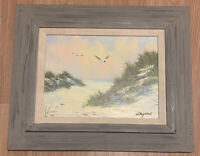 "Original Seascape Oil Painting Signed W. Raymond, Seagulls, Ocean, 20""x24"""