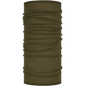 Buff Unisex Lightweight Merino Wool Outdoor Neckwear Tubular Scarf - Solid Bark