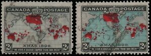 #2 1898 CANADA Scott # 85 & 86 used, Imperial Penny Postage Issue FREE SHIPPING