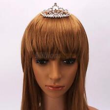 Mini Wedding Bridal Prom Rhinestone Crown Tiaras Hair Comb Pin Silver Jewelry