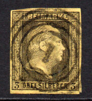 Prussia (Germany) 3sgr Stamp c1850-56 Used (7579)