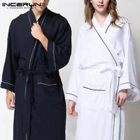 INCERUN Peignoir de bain en peignoir de luxe pour femmes & hommes Pyjamas Robes