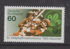 1985 Alemania Occidental estampillada sin montar o nunca montada sello Deutsche Bundespost mundo Scouts Conferencia SG 2102