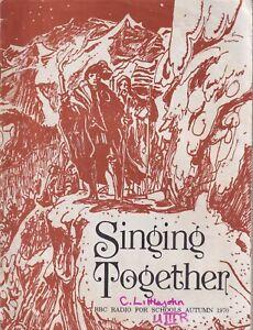 "1970 Autumn ""Singing Together""  BBC schools   Illustrated: Robert Blayney"