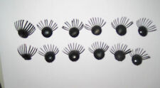 Eyelashes For Dolls & Bears - 6 Pair Button Style, Can Be Trimmed To Fit
