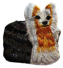 "#3801 1-3/4"" Pomeranian Dog Yorkie Embroidery Iron On Applique Patch"